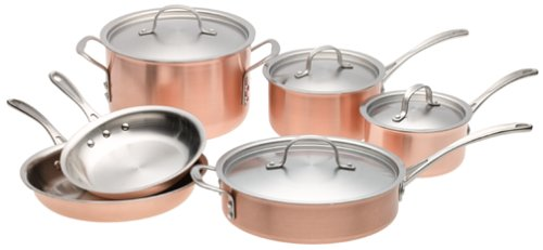 Calphalon Tri-Ply Copper 10 Piece Cookware Set
