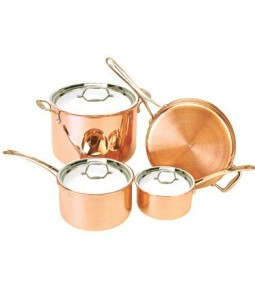 Le Couivre Copper Tri-Ply 7 Piece Cookware Set