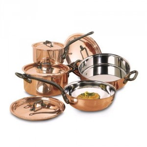 Matfer 8 Piece Bourgeat Copper Cookware Set