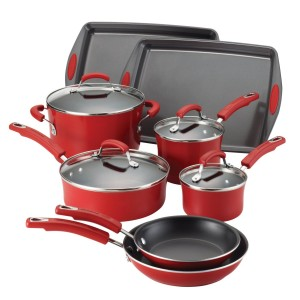 Rachael Ray Porcelain II Nonstick 12-Piece Cookware Set